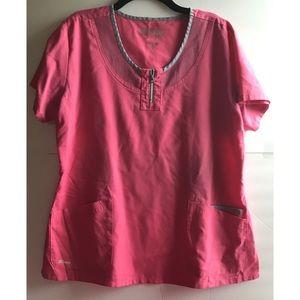 Grey's Anatomy Scrub top pink Sz XL